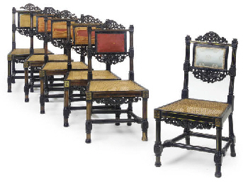 A SET OF SIX REGENCY BEECH AND
