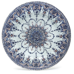 A FRENCH FAIENCE CHARGER