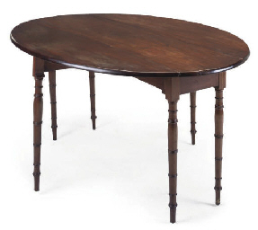 A REGENCY MAHOGANY WAKE TABLE