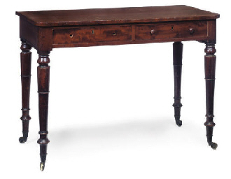 A GEORGE IV MAHOGANY SIDE TABL