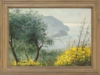 A Mediterranean coastal view;