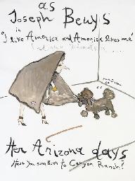 Mrs. Tependris as Joseph Beuys