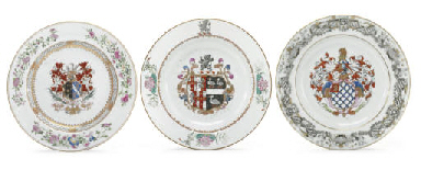 A GROUP OF THREE ARMORIAL PLAT