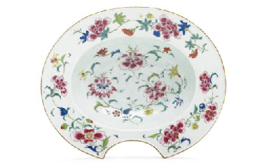 A FAMILLE ROSE BARBER'S BOWL