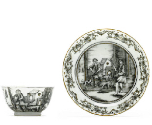 A GRISAILLE EUROPEAN SUBJECT T