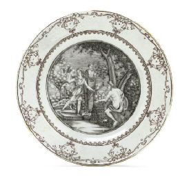 A GRISAILLE MYTHOLOGICAL PLATE