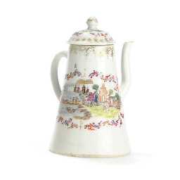 A SMALL MEISSEN STYLE COFFEE P