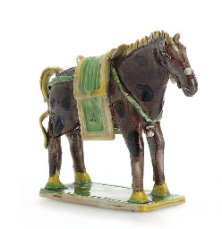 A BISCUIT-GLAZED HORSE