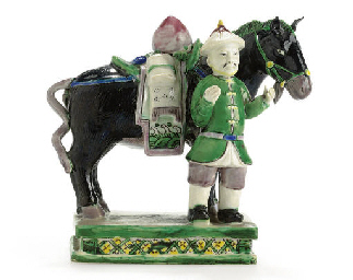A FAMILLE VERTE HORSE AND GROO
