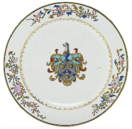 A FAMILLE ROSE ARMORIAL CHARGE