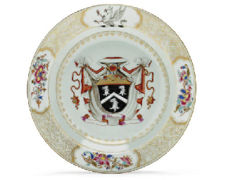 AN ARMORIAL SOUP PLATE