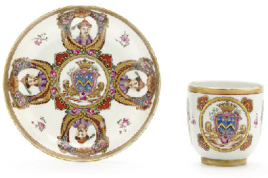A RARE FRENCH ARMORIAL CUP AND