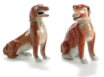 TWO SEATED HOUNDS