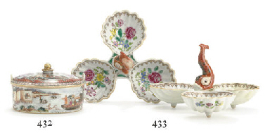 A FAMILLE ROSE BUTTER TUB AND