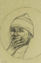 Self Portrait in a Convex Mirr