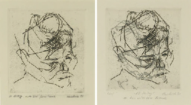 RB Kitaj, from Six Etching of