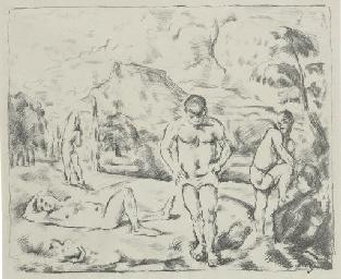 Les Baigneurs (Large Plate) (D