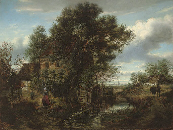 Collecting water at the mill