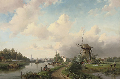 A summer's day at a Dutch wind
