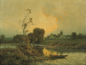 A village at the bend of the r