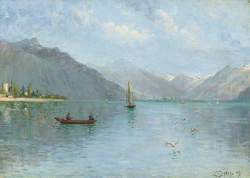 Fishing on Lake Lugano