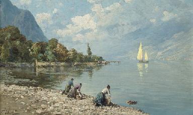 Washerwomen on a North Italian