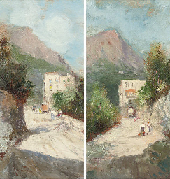 Peasants on a Capri pass; and
