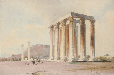 Travellers before the Acropoli