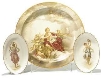 A WEDGWOOD CREAMWARE CHARGER A