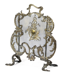 A FRENCH GILT-BRASS AND WIRE M