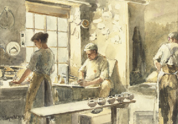 Potters at work; and Potters w