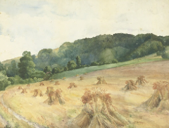 The Farm Road; and Wheatstacks