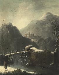 A rocky Italianate landscape i