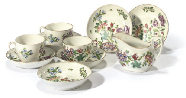 A NEWHALL PART TEA-SERVICE
