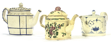 AN ENGLISH CREAMWARE FLUTED CY