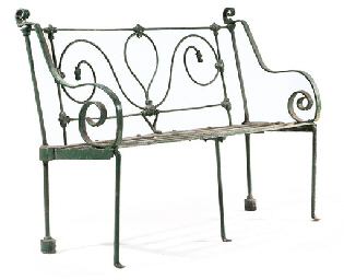 A MID-VICTORIAN WROUGHT-IRON G