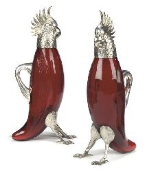 A PAIR OF SPANISH SILVER-MOUNT