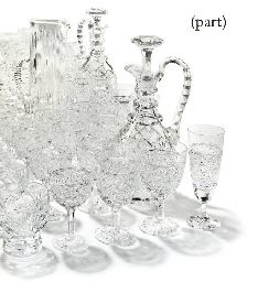 A QUANTITY OF CRYSTAL GLASSES