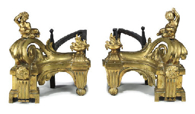 A PAIR OF FRENCH ORMOLU AND CA