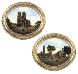 A PAIR OF FRENCH CONVEX OVAL V