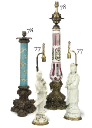 TWO VICTORIAN ORMOLU-MOUNTED L