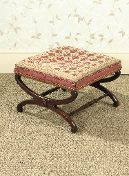 A GEORGE IV ROSEWOOD STOOL