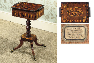 AN EARLY VICTORIAN PARQUETRY R