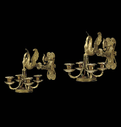 A PAIR OF RUSSIAN ORMOLU AND S