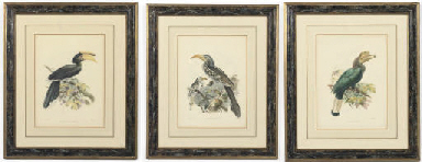 THREE FRAMED LITHOGRAPHS OF HO