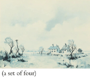 A SET OF FOUR PHOTO LITHOGRAPH