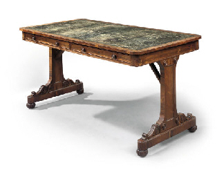 A GEORGE IV ROSEWOOD WRITING-T
