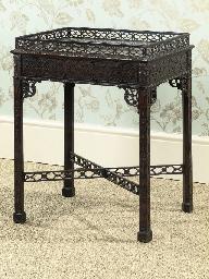A MAHOGANY CENTRE TABLE