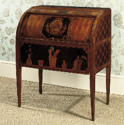 A LOUIS XVI WALNUT, AMARANTH,