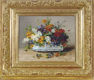 Wild flowers in a bough pot